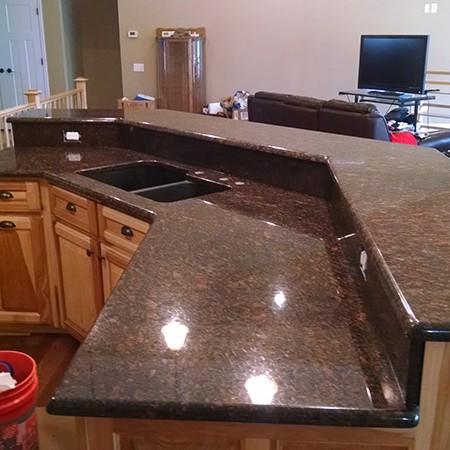 Two Tier Granite Kitchen Island