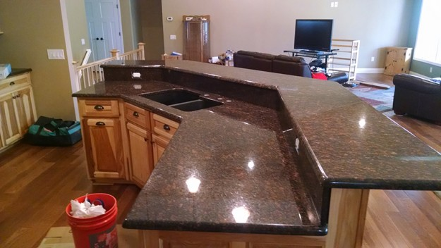 Two Tier Granite Kitchen Island