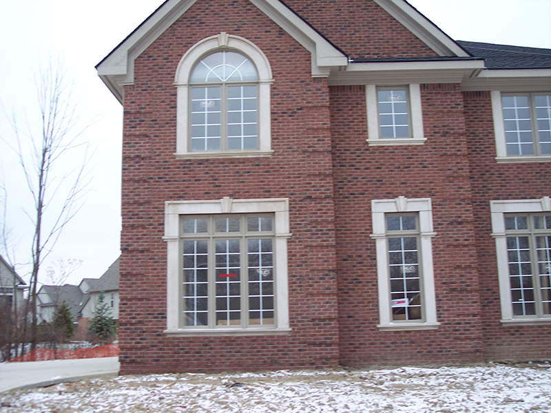 K2 stoneworks limestone on residential homes k2 stoneworks for Windows for residential homes