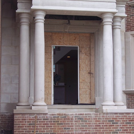 Limestone Porch Pillars